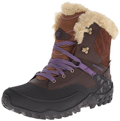 Merrell Women's Fluorecein Shell 8 Waterproof Winter Boot, Chocolate Brown,  8 M US